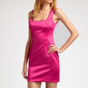 D&G Dolce and Gabbana Pink Satin Mini Dress